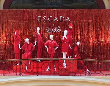Манекены для открытия бутика Escada, презентация капсульной коллекции с Rita Ora