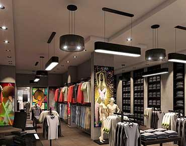 Проект освещения для магазина одежды Black Star