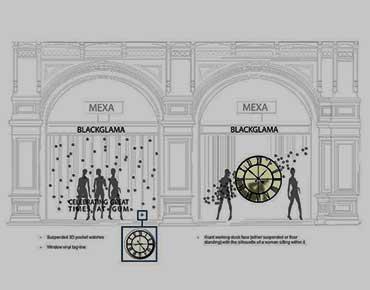 Проектирование витрин для магазина Blackglama, ГУМ (Москва)